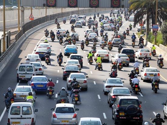 הפגנת האופנועים / צלם: אבשלום ששוני